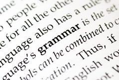 gramatyka obraz stock