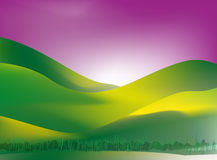 Grame a terra no por do sol Imagem de Stock Royalty Free