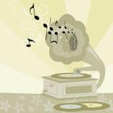 Gramófono adornado de la vendimia Imagen de archivo libre de regalías