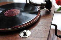 Gramófono de la vendimia Foto de archivo