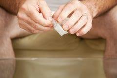 Gramm-Tasche des Kokains Stockfotos