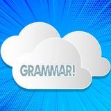 Grammaire des textes d'écriture de Word Concept d'affaires pour le système et structure des règles d'écriture appropriées correct illustration de vecteur