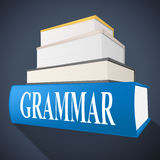 Grammar Book Indicates Rules Of Language And Learning Stock Photos