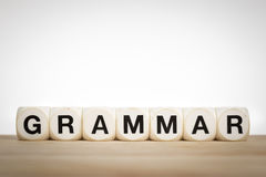 Free Grammar Concept With Toy Dice Stock Photos - 49184853