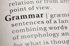 Grammar Stock Image