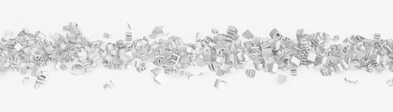 Grammar Road, White. Letter and symbol abstract 3d illustration, isolated Royalty Free Stock Image