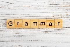 Grammar word made with wooden blocks concept Royalty Free Stock Photos