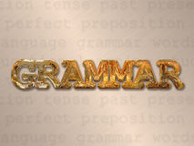 Grammatica inglese Fotografie Stock Libere da Diritti