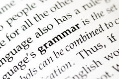 grammatik Fotografering för Bildbyråer