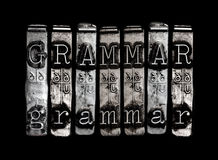 Grammatikbegrepp Arkivbild