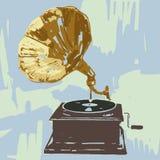 grammofon vektor illustrationer