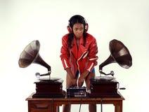 Grammofon dj Royaltyfri Foto