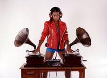 Grammofon dj Royaltyfri Fotografi
