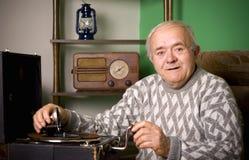 Grammofono antiquato Fotografie Stock Libere da Diritti