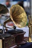 Grammofono come oggetti d'antiquariato Fotografia Stock Libera da Diritti