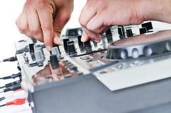 Grammofono del DJ fotografie stock libere da diritti