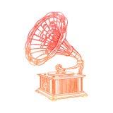 Grammofono dell'acquerello Immagine Stock Libera da Diritti