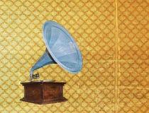 Grammofono dell'annata - grungy Fotografia Stock