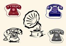 Grammofono, telefono Immagine Stock Libera da Diritti