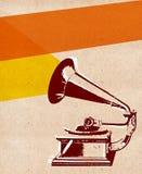 Grammofonreklamblad 01 Arkivbild