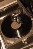grammofonspelaretappning royaltyfri fotografi
