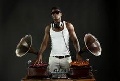 Grammofoon DJ Royalty-vrije Stock Foto's