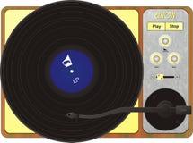 Grammofoon met een plaat Stock Afbeelding