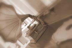 Grammofoon in sepia Royalty-vrije Stock Afbeelding