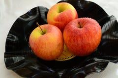 Grammofoonplaat als fruitkom Stock Afbeeldingen