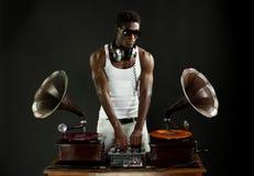 Grammophon DJ stockbild