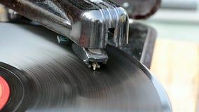Grammophon, Weinleserekordspieler, Retro- Nostalgie, stock footage