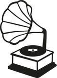 Grammophone ikony muzyka royalty ilustracja
