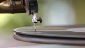 Grammophonnadel stock footage
