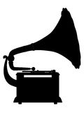 Grammophonumreißschattenbild lizenzfreie abbildung