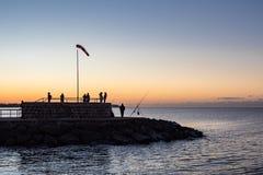 Gramocząsteczka na morza bałtyckiego wybrzeżu w Warnemuende Zdjęcia Stock