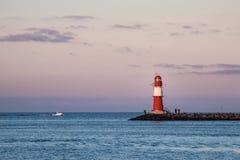 Gramocząsteczka na morza bałtyckiego wybrzeżu w Warnemuende Obrazy Stock