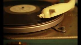 gramofon zamknięty w górę zdjęcie wideo