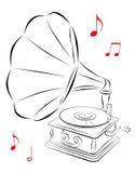 Gramofone ilustração stock
