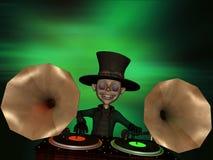 Gramofone DJ Imagens de Stock