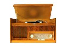 Gramofone retro do vinil foto de stock