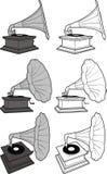 gramofonowy stary retro projektujący ilustracji