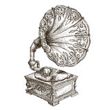 Gramofonowy wektorowy loga projekta szablon muzyka lub ilustracji