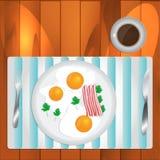 gramolący się kawowi jajka Obrazy Stock