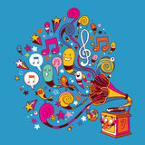 Gramophone διασκέδασης απεικόνιση αποθεμάτων