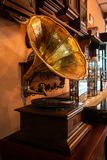 Gramophone εκλεκτής ποιότητας ύφος φωνογράφων μουσικής στοκ εικόνες με δικαίωμα ελεύθερης χρήσης