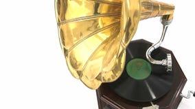 gramophone μίμησης εκλεκτής ποιότητας wtercolor απεικόνισης απόθεμα βίντεο