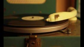Gramophone στενός επάνω απόθεμα βίντεο