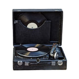 gramophone φορητός τρύγος στοκ φωτογραφία