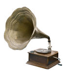 Gramophone. This is an old gramophone on a white background Royalty Free Stock Images