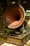 Gramophone. Photo of retro gramophone with disc Royalty Free Stock Images